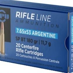PPU Rifle Ammo 7.65x53 Argentine SP BT 180GR 20ct