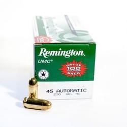 Remington UMC Value Pack 100Rds 45 ACP Pistol Ammo