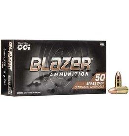 CCI CCI Blazer Brass Centerfire Pistol Ammo 9mm Luger 115GR FMJ 1000RDS