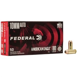 Federal American Eagle 10mm Auto 180GR FMJ 50ct