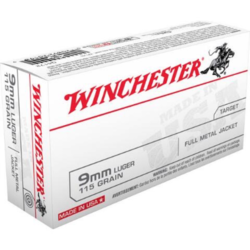 Winchester 9mm Luger 115GR FMJ 500RDS