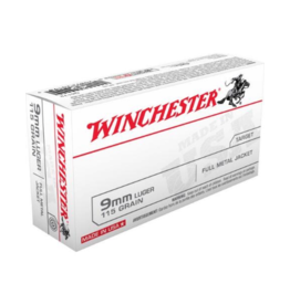 Winchester Winchester 9mm Luger 115GR FMJ 500RDS
