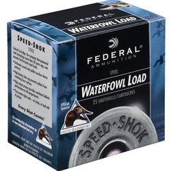 "Federal Speed Shok Waterfowl Shotshell 20GA 3"" 2 Shot 1550FPS 25ct"