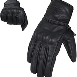 Leather Gloves with knuckle protection L