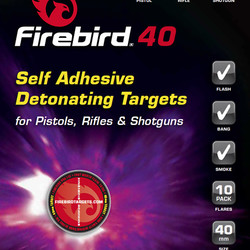 Firebird 40 Self Adhesive Detonating Targets Pistols, Rifles & Shotguns