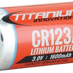 Titanium CR123A 3.0V Battery
