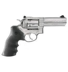 """Ruger Ruger 01705 GP100 Std Revolver 357 MAG 4.2"""" Rubber Mo Medium Satin SS Frame Combat Trigger"""