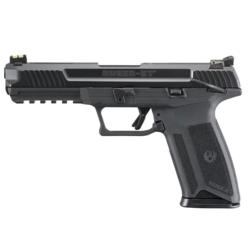 "Ruger 16402 57 Semi-Auto Pistol 5.7x28mm 4.94"" Barrel B Optics sight, Rail, 2 Mags 10+1 Rounds Blued"