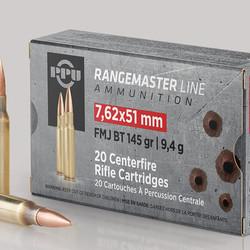 PPU Rangemaster Rifle Ammo 7.62x51 FMJBT 145GR 20ct
