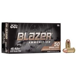 CCI Blazer Centerfire Pistol Ammo 45 ACP 230gr 50 ct