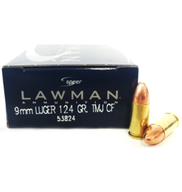 CCI CCI 9mm Luger 124 GR TMJ CF Lawman Lead Free 1000ct