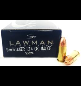 CCI CCI 9mm Luger 124 GR TMJ CF Lawman Lead Free 50ct