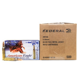 Federal Federal 5.56mm 55GR FMJ-BT 500 Rounds