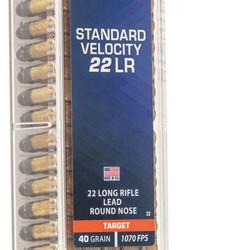 CCI Standard Velocity Rimfire Ammo 22LR LRN 40 GR 100 Rounds