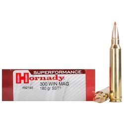 Hornady Superformance 300 WIN MAG 180GR SST 20 ct