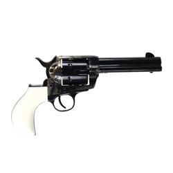 "Pietta 1873 SA Revolver T Model White Polymer Grip 357 Mag 4.75"""
