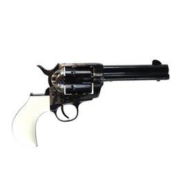 "Pietta Pietta 1873 SA Revolver T Model White Polymer Grip 357 Mag 4.75"""