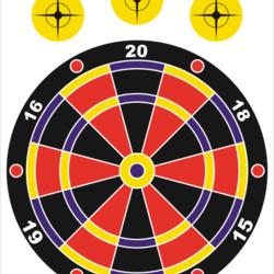 """Pro-Shot Splatter Shot Game Series 12""""x18"""" Dartboard"""