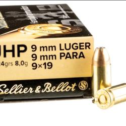 Sellier & Bellot 9mm PARA 124GR JHP Bonded