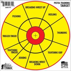 "Pro-Shot 12"" Bullseye Pistol Diagnostic 6 Training Target"