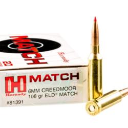 Hornady Match 6mm Creedmoor 108GR ELD