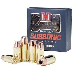 Hornady Subsonic Pistol Ammo 9mm Luger 147GR XTP