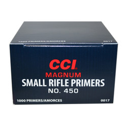 CCI Magnum Small Rifle Primers #450 1000 Rounds