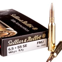 Sellier & Bellot 6.5X55 SE FMJ 140 GR 20ct