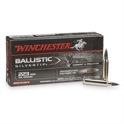 223 Rem 55 Grain Ballistic Silvertip 20 Rounds