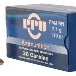 PPU  30 Carbine SP RN 110 GR 500 Rounds