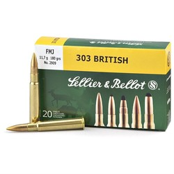 Sellier & Bellot 303 British Brass Only Bag Of 20RDS
