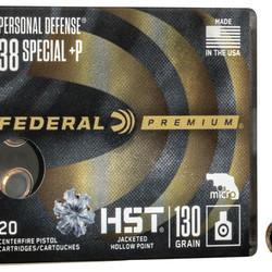 Federal Premium HST 38 Special+P JHP 130GR