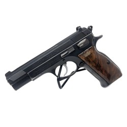 Tan Foglio Mossad 9mm Surplus Blued Wood Grip 8/10