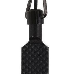 Flat Knurled Swivel Handcuff Black Key
