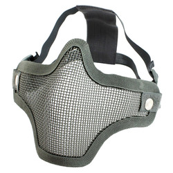Gear Stock Half-Face Mesh Airsoft Mask Gray