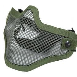 Gear Stock Half-Face Mesh Airsoft Mask OD Green