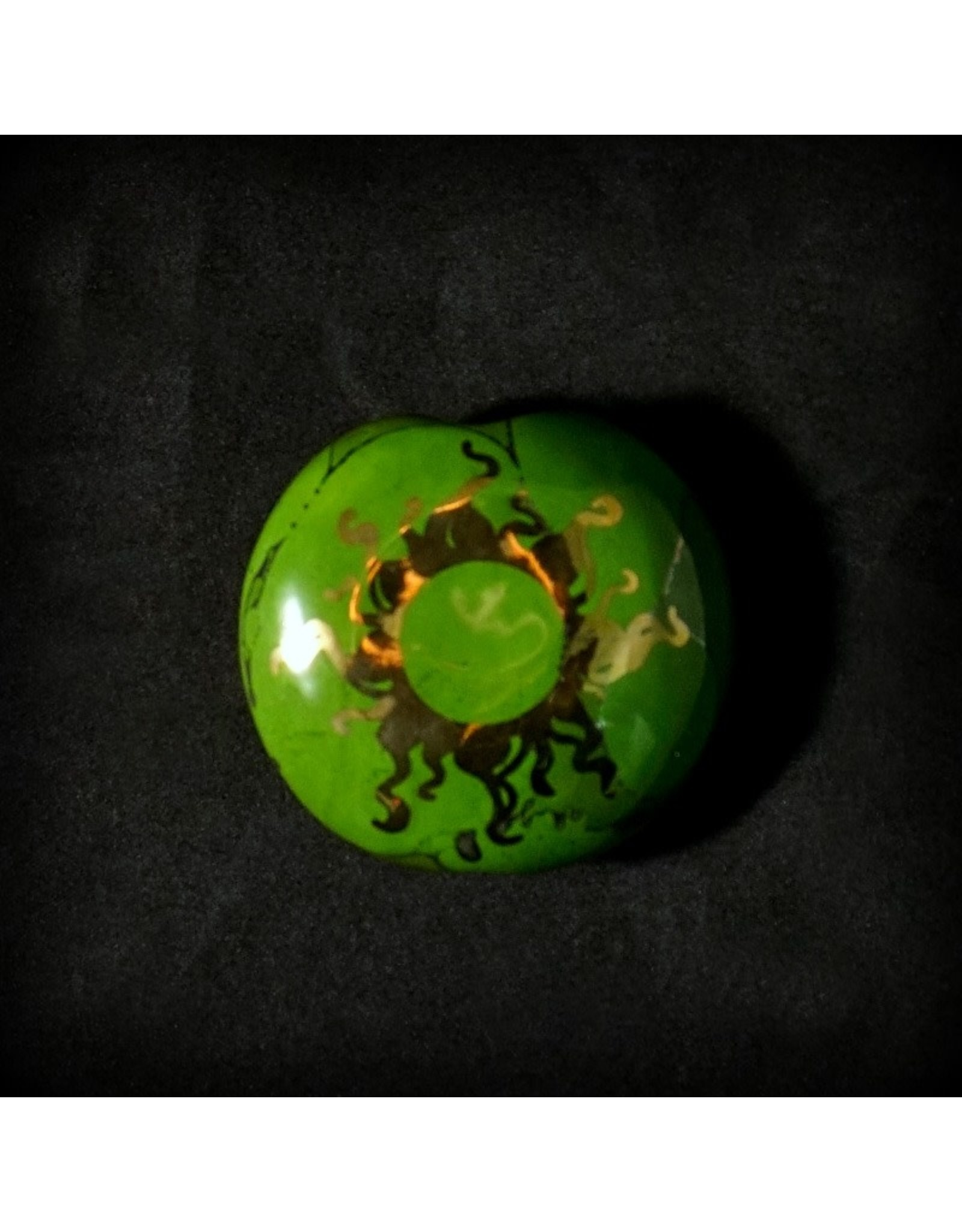 Ceramic Smoking Stone – Dark Green