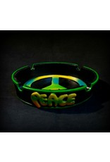 Large Green Outline Peace Ashtray