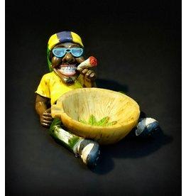 Rasta Man Holding Bowl Ashtray