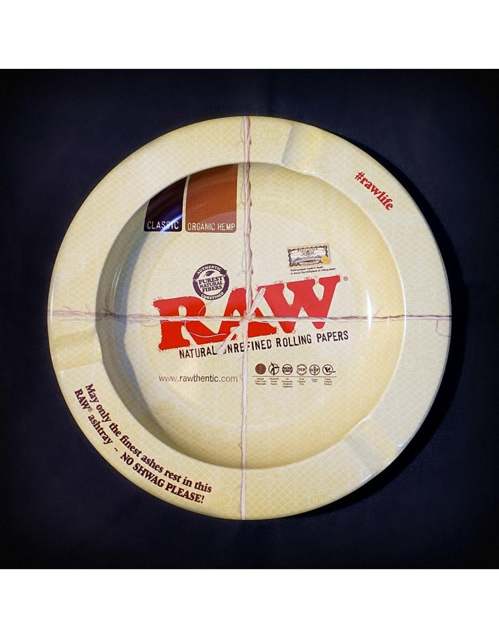 Raw Raw Round Metal Ashtray