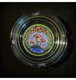 Mike Dubois Glass Ashtray - Mushroom Swirls