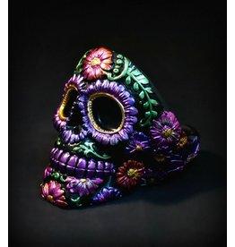 Sugar Skull Ashtray – Metallic Carved Flower