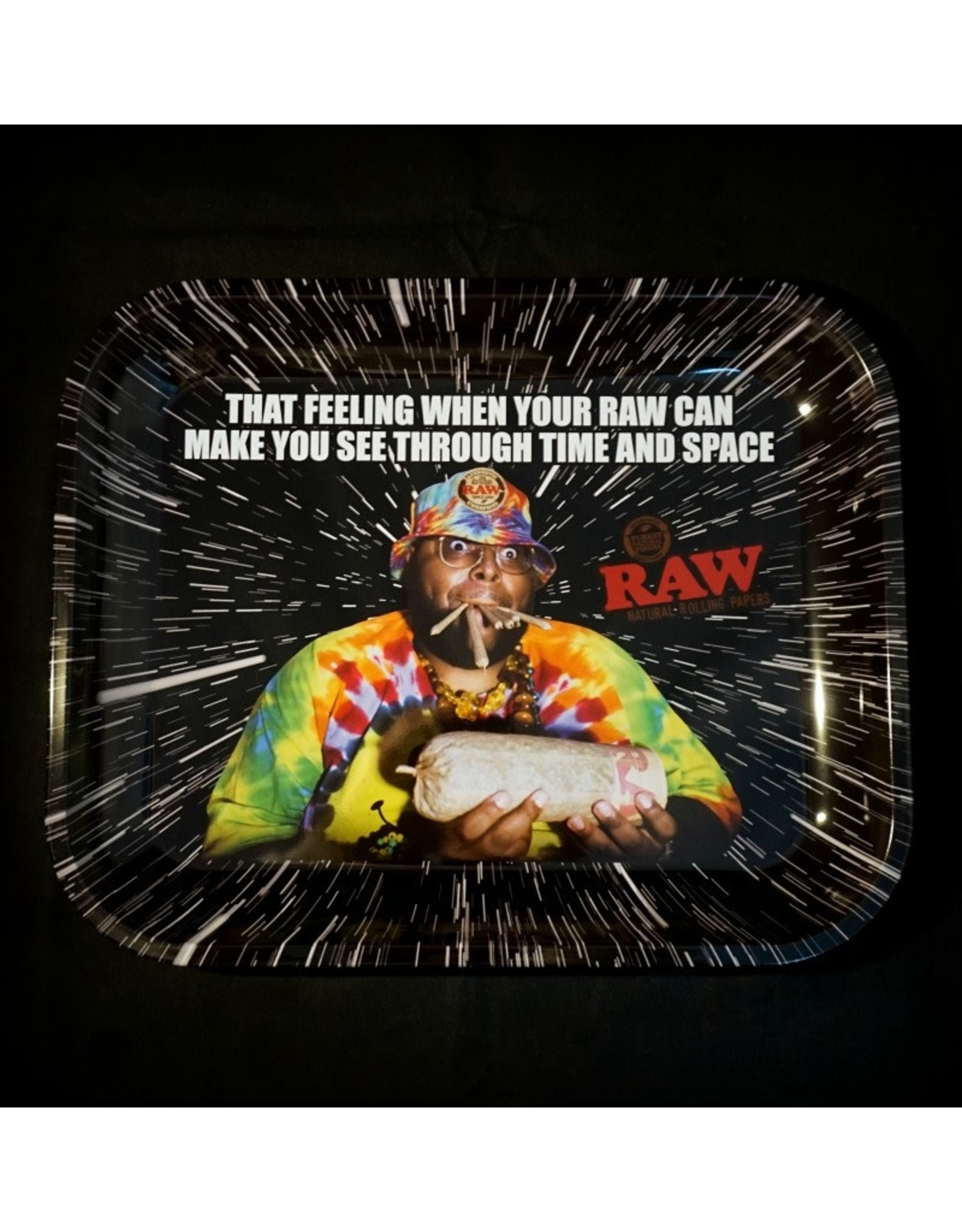 Raw Raw Oops Time and Space Rolling Tray - Large