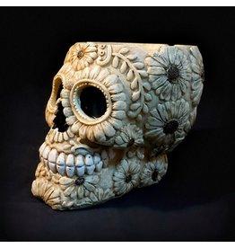 Sugar Skull Ashtray – Bone Carved Flower
