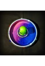 Alien in Flying Saucer Polyresin Ashtray