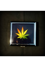 Cigarette Case 3x3 - Rasta Leaf