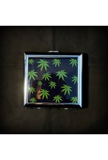 Cigarette Case 3x3 - Green Leaves