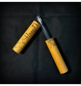 Honey Dabber Cherry Wood Vapor Straw with Quartz Tip