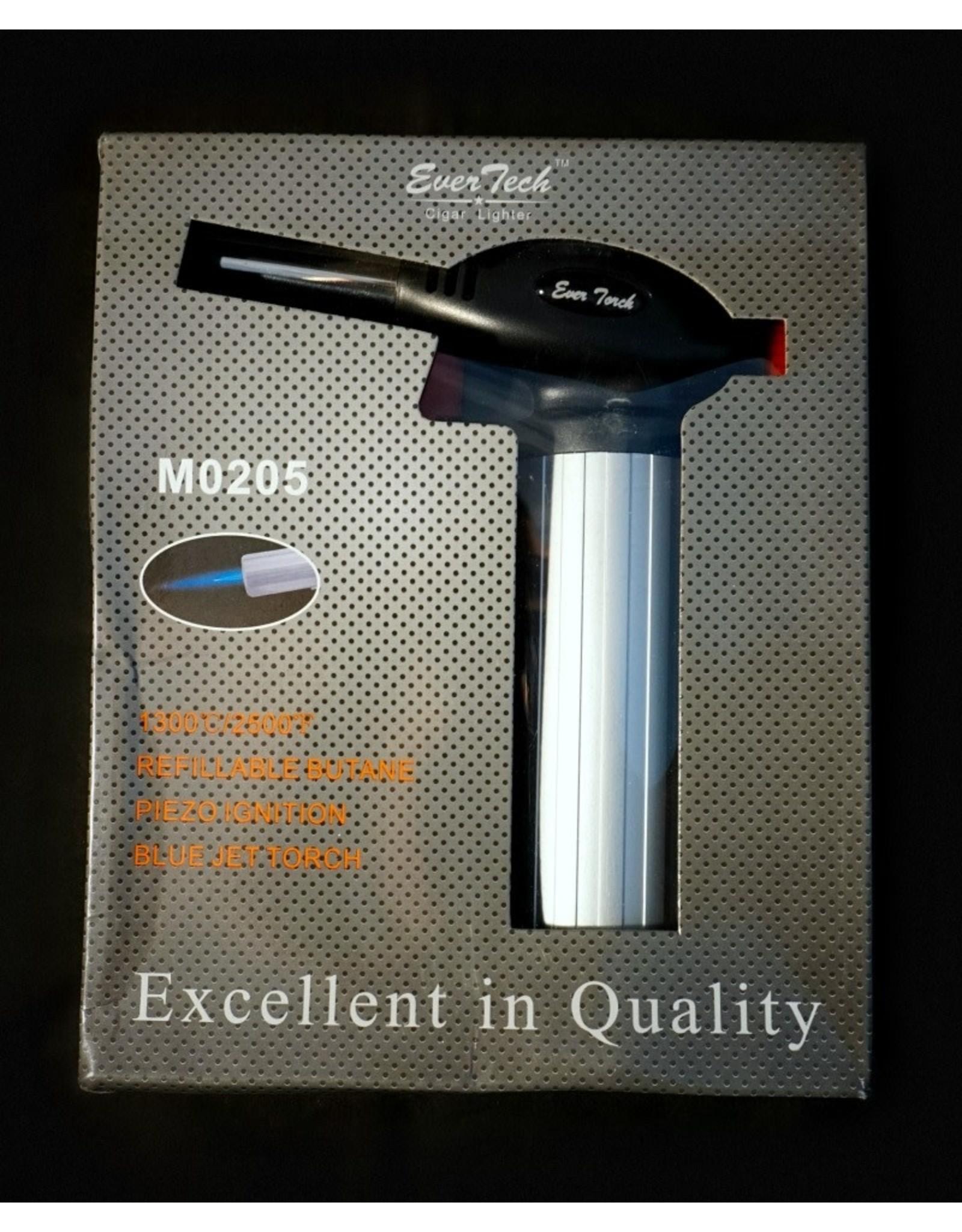 """EverTech Cigar Lighter Torch - Silver 7"""""""