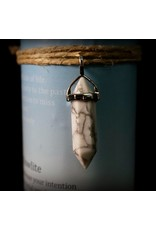 Crystal Energy Pendant Candle - White Howlite Calming